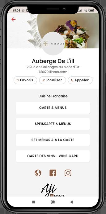 Aji Code carte et menus restaurant